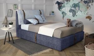 Кровать Elegant Unique 90 джинс с ремнями