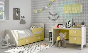 Комната детская Klюkva Mini Лимонный Сорбет-Дуб белый