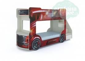 Кровать-автобус Vivera красный