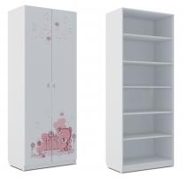 Шкаф для белья Klюkva Baby SH1, Мишка Girl
