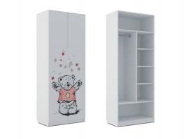 Шкаф комбинированный Klюkva Baby SH2, Тедди