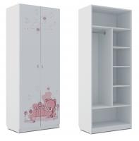 Шкаф комбинированный Klюkva Baby SH2, Мишка Girl