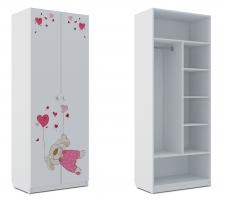 Шкаф комбинированный Klюkva Baby SH2, Зайка