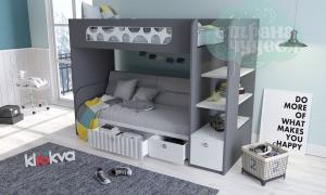 Кровать двухъярусная Klюkva Velvet