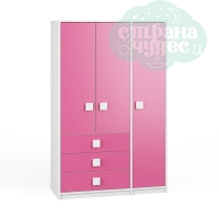 Шкаф 3-створчатый Легенда Л-09 розовый