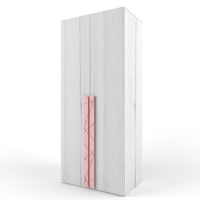 "Шкаф 38 попугаев ""Ньютон"" двустворчатый, розовый"
