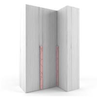 """Шкаф 38 попугаев """"Ньютон"""" угловой розовый"""