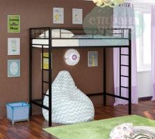 Кровать-чердак металлическая ФМ Севилья-1.1, черная