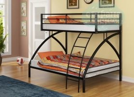 Двухъярусная кровать Формула мебели Виньола-2, черный