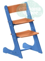 Регулируемый универсальный стул Конёк Горбунёк, сине-оранжевый