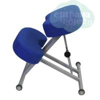 Стул коленный Олимп 1, толстые подушки, ярко-синий