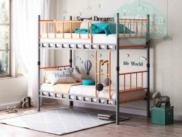 Кровать двухъярусная разборная ФМ Дельта Loft 20.02.03, серая - оранжевая