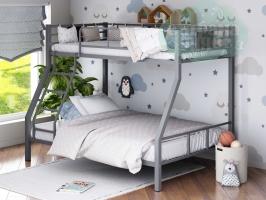 Двухъярусная металлическая кровать ФМ Гранада-1, серая