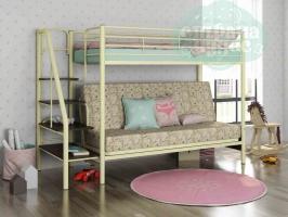 Кровать-чердак с диваном ФМ Мадлен-3, пифагор / сл. кость