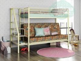 Кровать-чердак с диваном ФМ Мадлен-3, марки / сл. кость