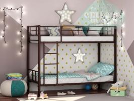 Двухъярусная металлическая кровать ФМ Севилья-2, коричневая