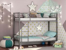 Двухъярусная металлическая кровать ФМ Севилья-2, серая