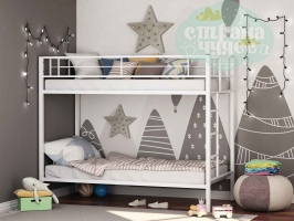 Двухъярусная металлическая кровать ФМ Севилья, белая