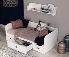 Кровать-диван Klukva Calypso с 3 ящиками
