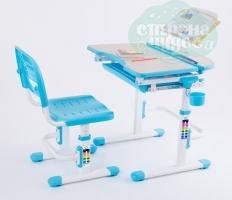 Комплект парта и стул-трансформеры FunDesk Sorriso голубой