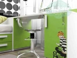Стол письменный Klюkva Junior, Voque, зеленая мамба/белый
