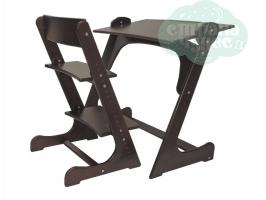 Растущая стол-парта со стулом Конёк Горбунёк, тик