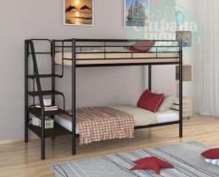 Двухъярусная кровать ФМ Толедо, черная, металлическая