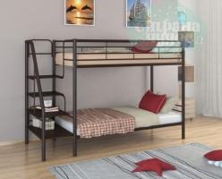 Двухъярусная кровать ФМ Толедо, коричневая, металлическая