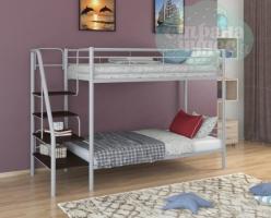 Двухъярусная кровать ФМ Толедо, серая, металлическая