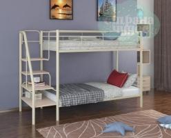 Двухъярусная кровать ФМ Толедо, слоновая кость, металлическая