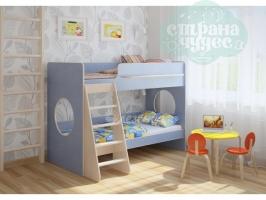 Двухъярусная кровать Легенда 25.1, голубой