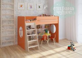Кровать-чердак Легенда 26.1, оранжевая