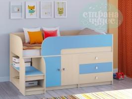 Кровать-чердак РВ-мебель Астра 9.1, голубой