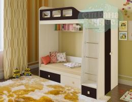 Двухъярусная кровать Астра 3 (венге)