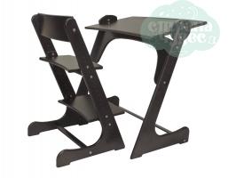 Растущая стол-парта со стулом Конёк Горбунёк, венге