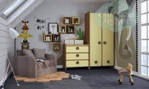 Комната детская Klюkva Mini Лимонный Сорбет-Дуб табачный