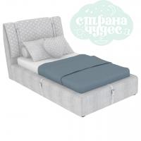 Кровать Elegant Unique 160 серая с ремнями