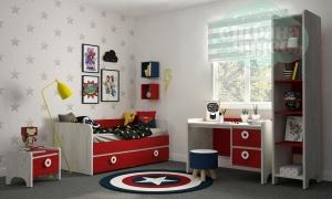 Комната детская Klюkva Mini Красный чили-Дуб белый